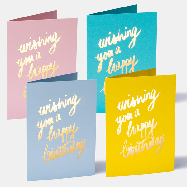 Wishing You A Happy Birthday - Pack of 8