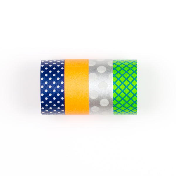 Multi Coloured 4 Pack of Maste Tape