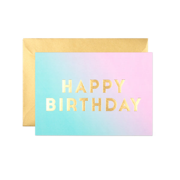 Dalston Dusk Ombre Birthday Card