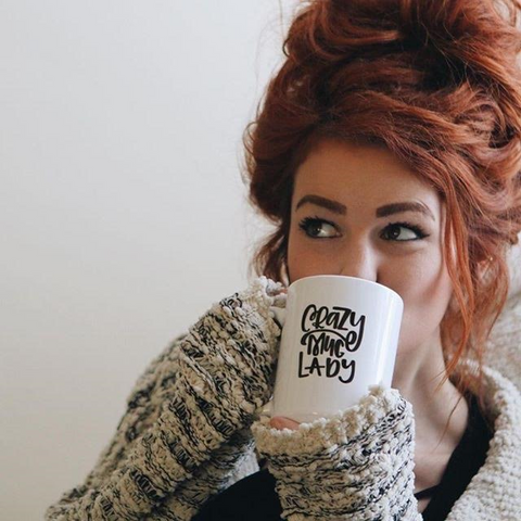 crazy mug lady coffee mug
