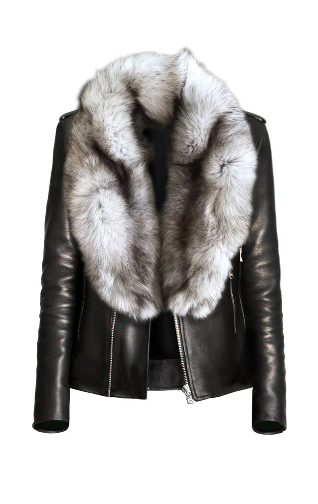 Snow Fox Fur Collar