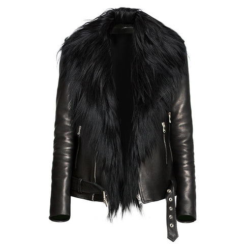 Frederick Black Fur Collar