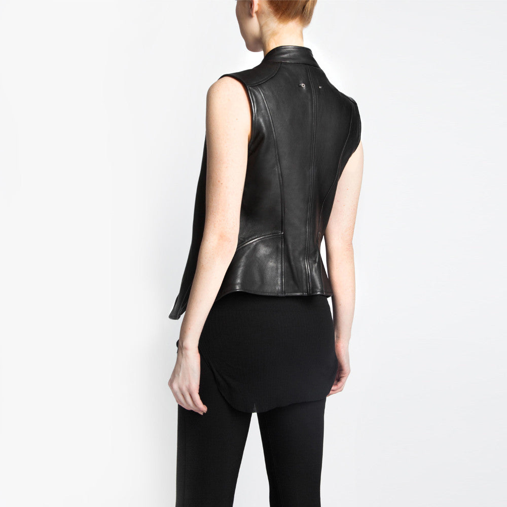 The Ella leather jacket by the namesake designer Rosa Halpern.