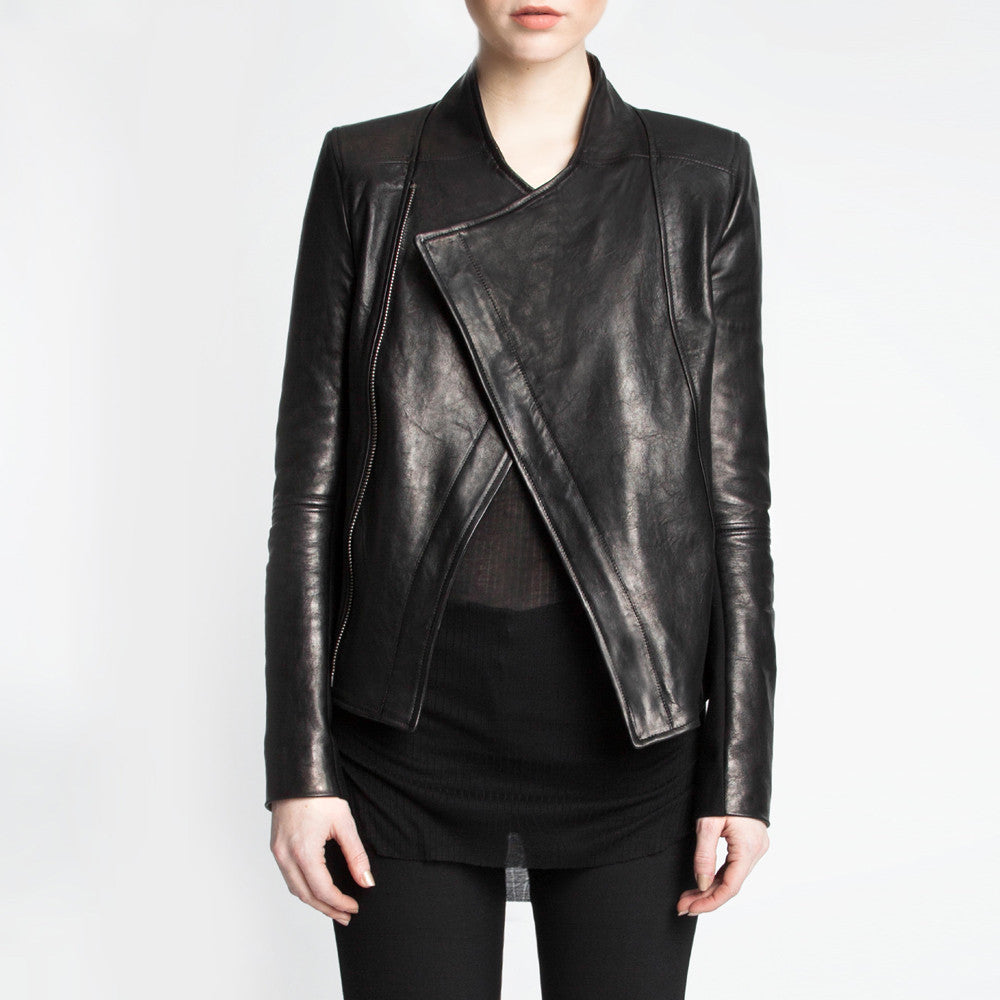 The Emmeline leather jacket by the namesake designer Rosa Halpern.