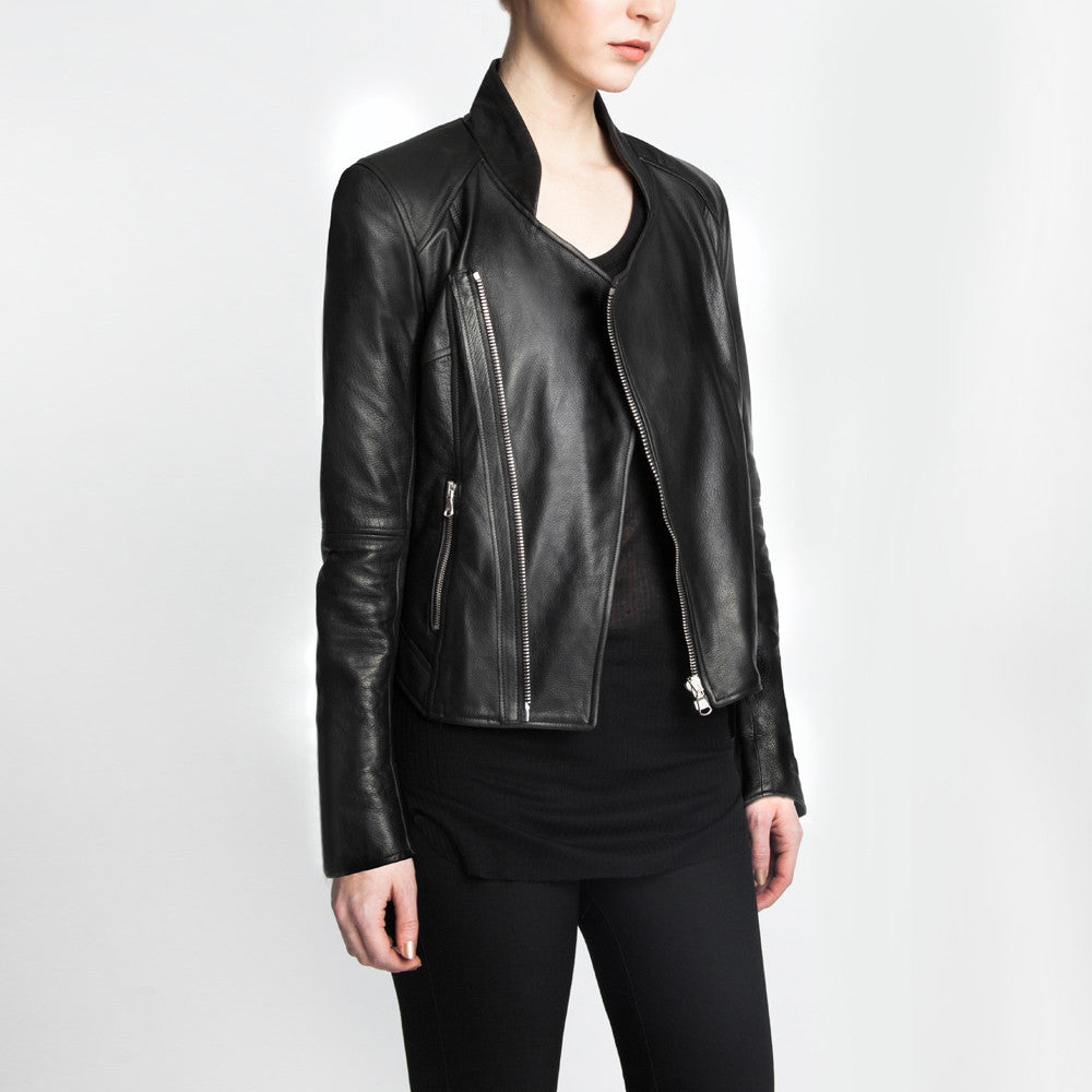 The Frida leather jacket by the namesake designer Rosa Halpern.