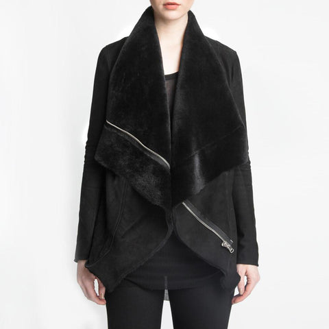 the yoko + detachable fur collar