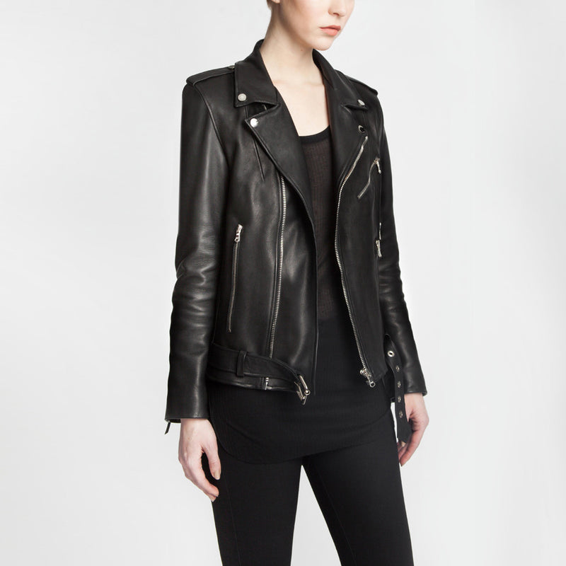 The Yoko leather jacket by the namesake designer Rosa Halpern.