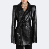 The Kamala Blazer - Croc Embossed
