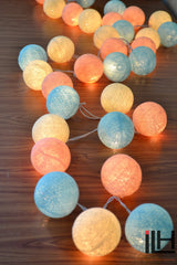 Cotton Ball String Lights
