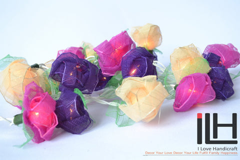 Wedding String Lights Purple Rose Free Shipping