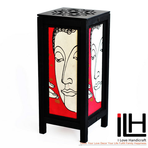 Red Buddha Beside Table Lamp