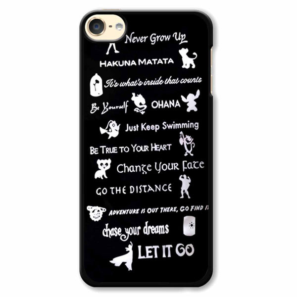12 Best Disney Lessons iPod Touch 6 Case
