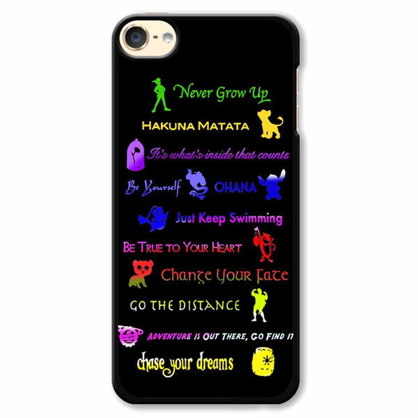 12 Disney Lessons iPod Touch 6 Case