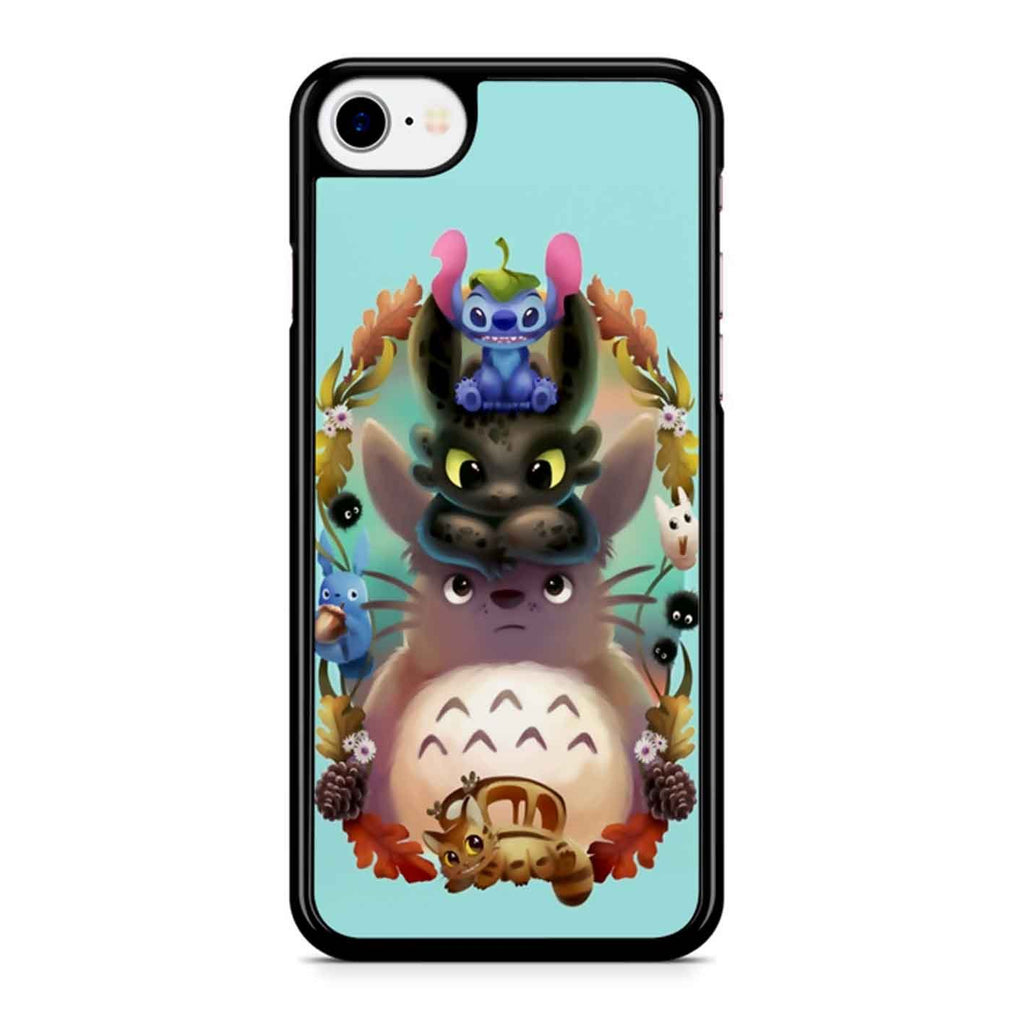 Favorite Totoro Stich And Toothless iPhone 8 Case