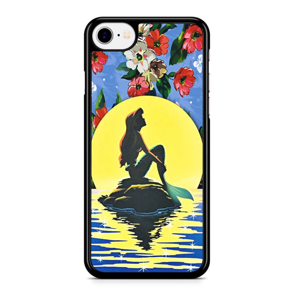 Ariel The Little Mermaid Floral iPhone 8 Case