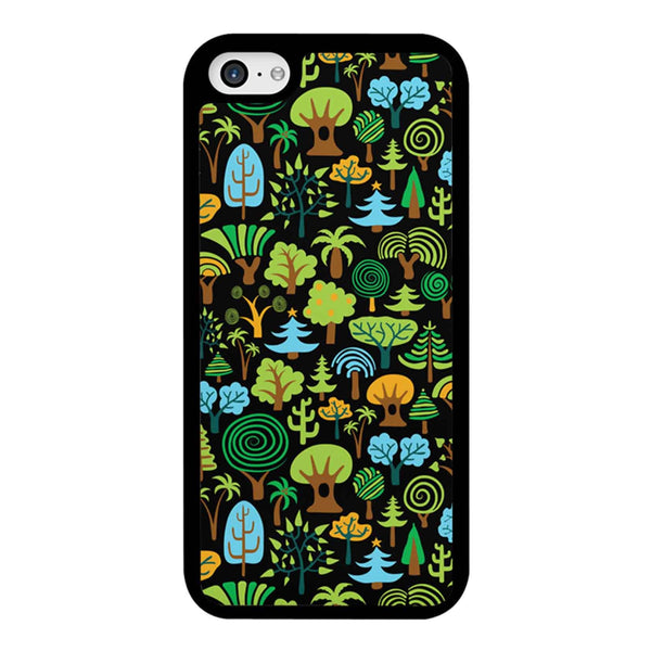 Assorted Colorful Cute Trees Pattern iPhone 5C Case