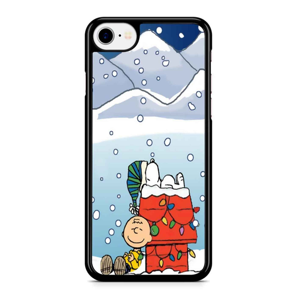 Charlie And Snoopy Brown Christmas iPhone 8 Case