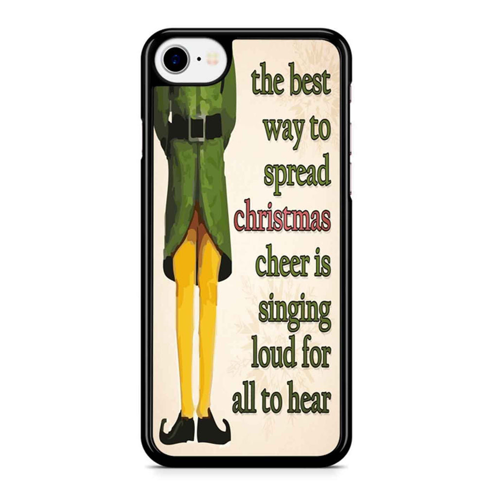 Christmas Elf Quotes iPhone 8 Case