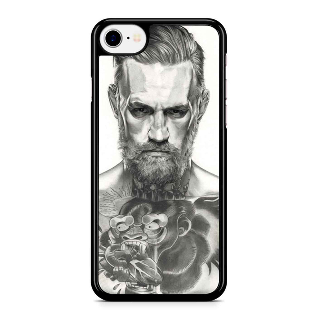 Conor Mcgregor Black And White iPhone 8 Case