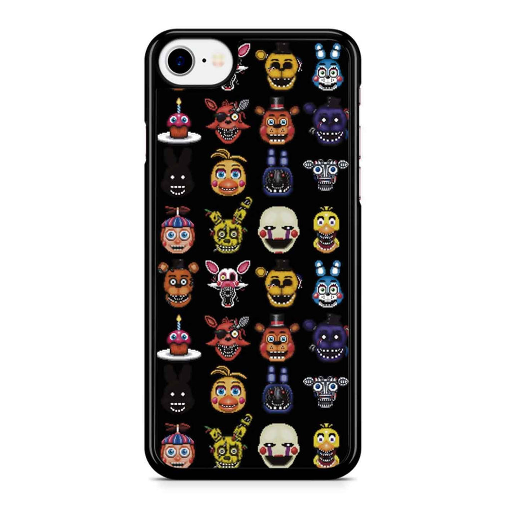 Five Nights At Freddy Pixel Art Characters iPhone 8 Case