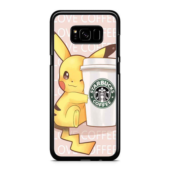 Pikachu Love Coffee Samsung Galaxy S8 Case