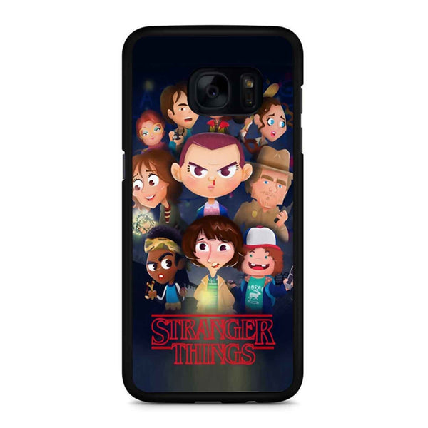Stranger Things Cartoon Samsung Galaxy S7 Edge Case
