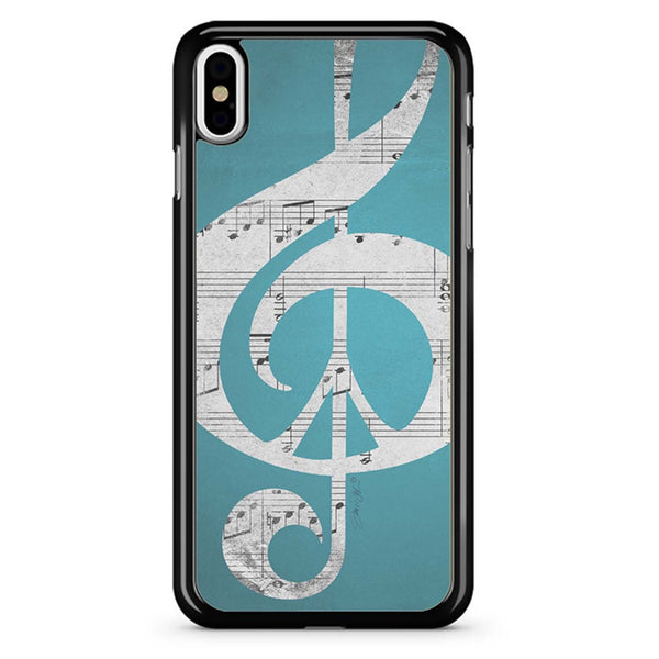 Teal Music Notes iPhone XR Case/iPhone XS Case/iPhone XS Max Case