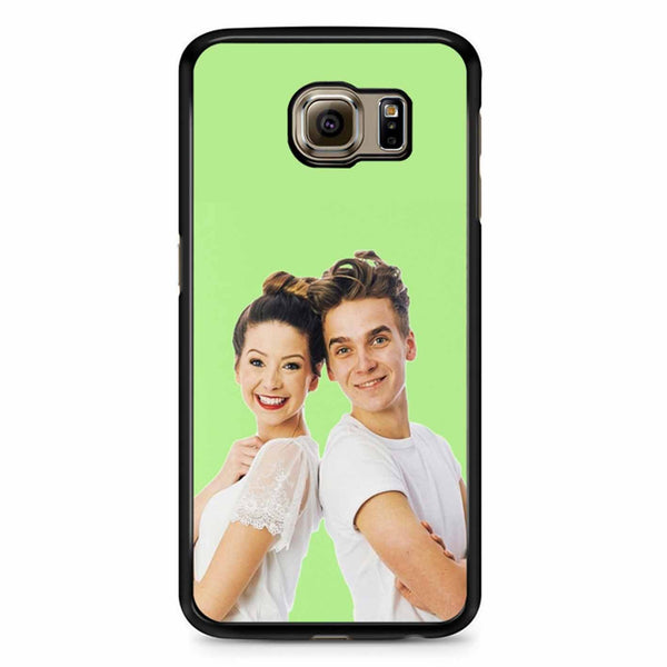 Zoe And Joe Sugg Pasta Green Samsung Galaxy S6 Case