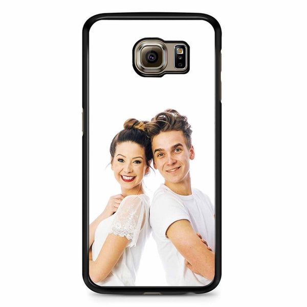 Zoe And Joe Sugg White Samsung Galaxy S6 Edge Case