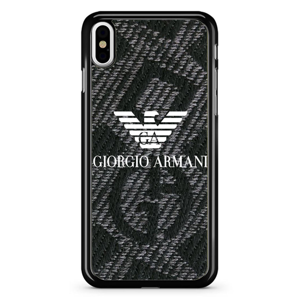 new style e4dcc 4c103 Giorgio Armani Pattern iPhone X Case