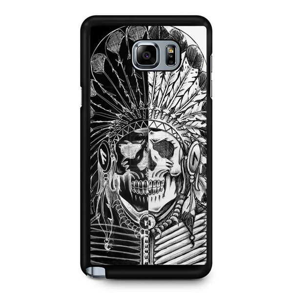 Indian Sugar Skull Black And White Samsung Galaxy Note 5 Case