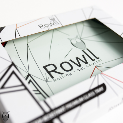 Rowll Signature Small Glass Rolling Tray