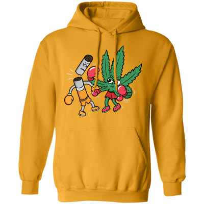 Cannabis Knocks Out Tobacco Hoodie