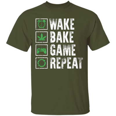 Wake Bake Game Repeat T-Shirt