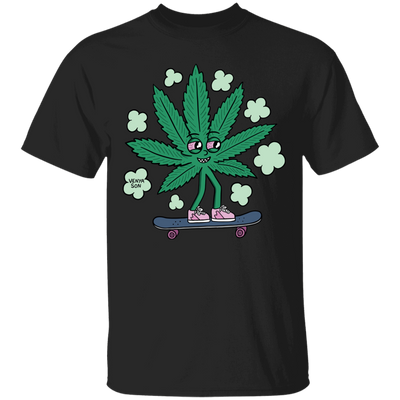 Skating Leaf T-Shirt