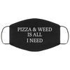 Pizza and Weed Face Mask