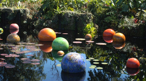 Chihuly glass orbs at Fairchild Tropical Gardens Coral Gables Florida