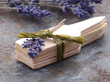 Wooden Plant Tag with Dried Lavender