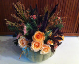 Fall Flowers with Purple Millet