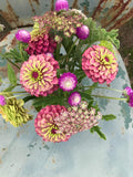 Summer Flower Arrangement with Gomphrena