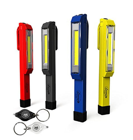 AOR Power Nebo Larry #6327 C COB LED Work Light Magnetic Clip High-power 170 Lumen COB Led, Yellow, Red, Black, Blue 4-pack