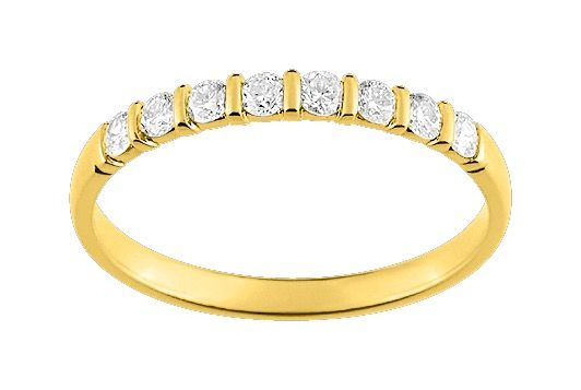 Alliance Diamants - Serti barettes 0.25ct GH-SI Or 750 Jaune