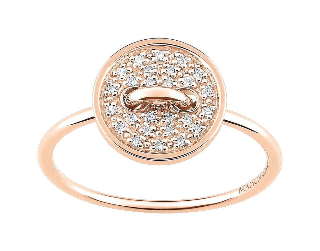 Bague Les boutons de Louise Diamants 0.10ct GH-SI Or 750 Rose