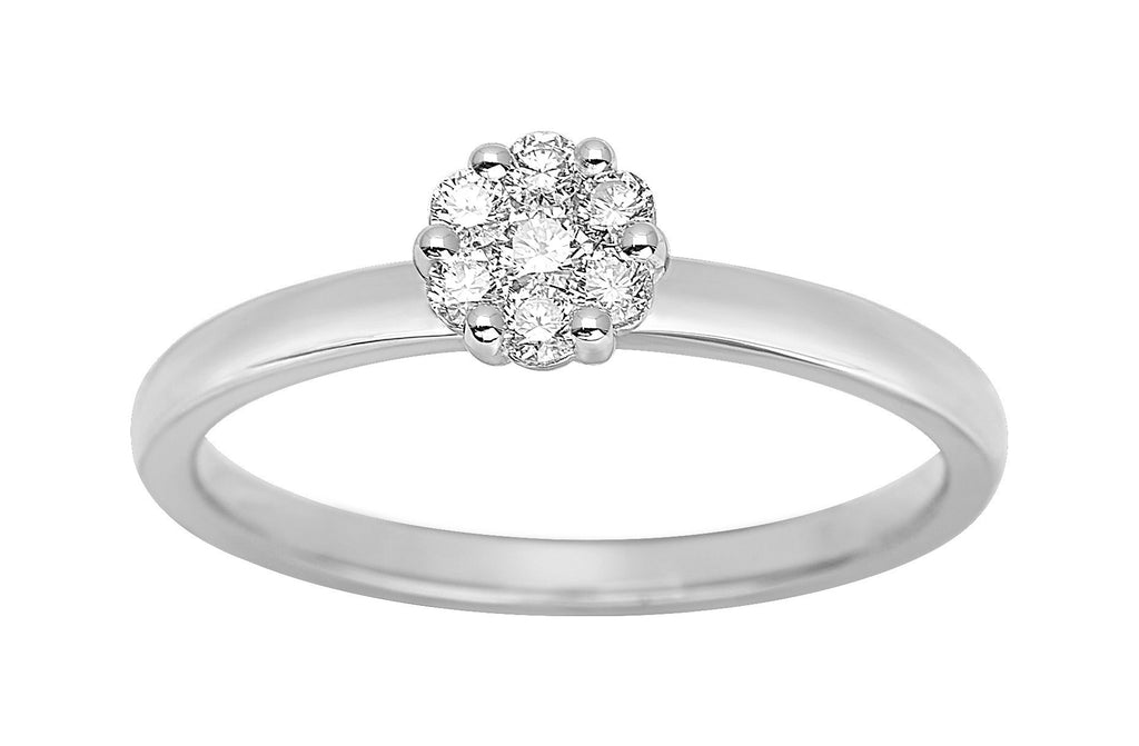 Bague Diamants 0.20ct GH-SI Or 750 Blanc