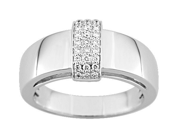 Bague Diamants 0.16ct GH-SI Or 750 Blanc