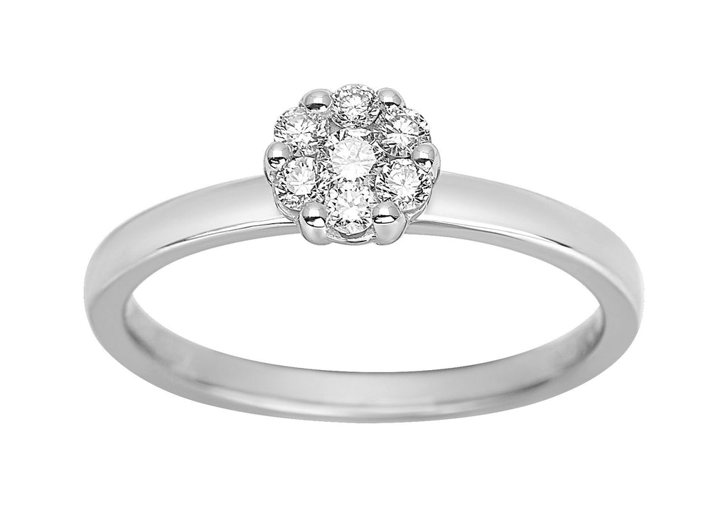 Bague Diamants 0.25ct GH-SI Or 750 Blanc