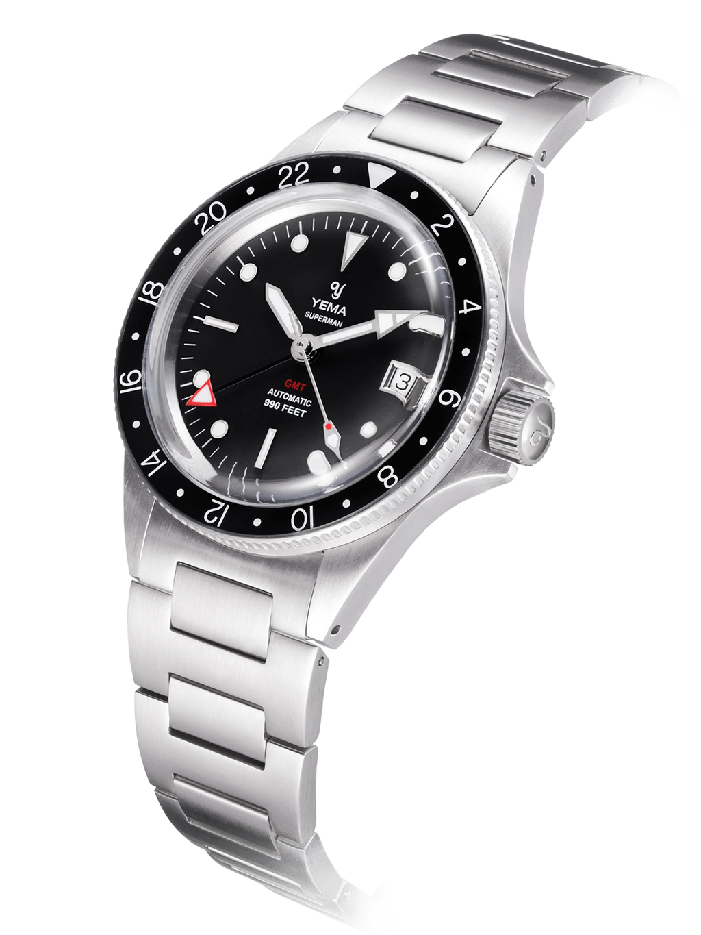 YEMA Superman GMT Black - 39 mm