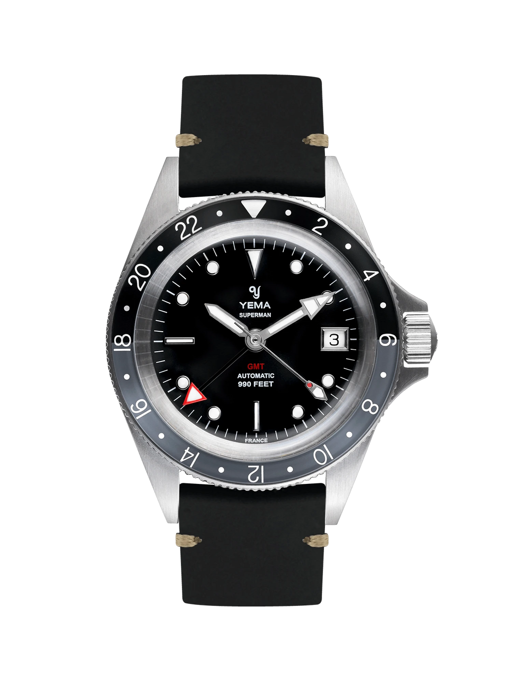 YEMA Superman GMT Black Gray - 39 mm