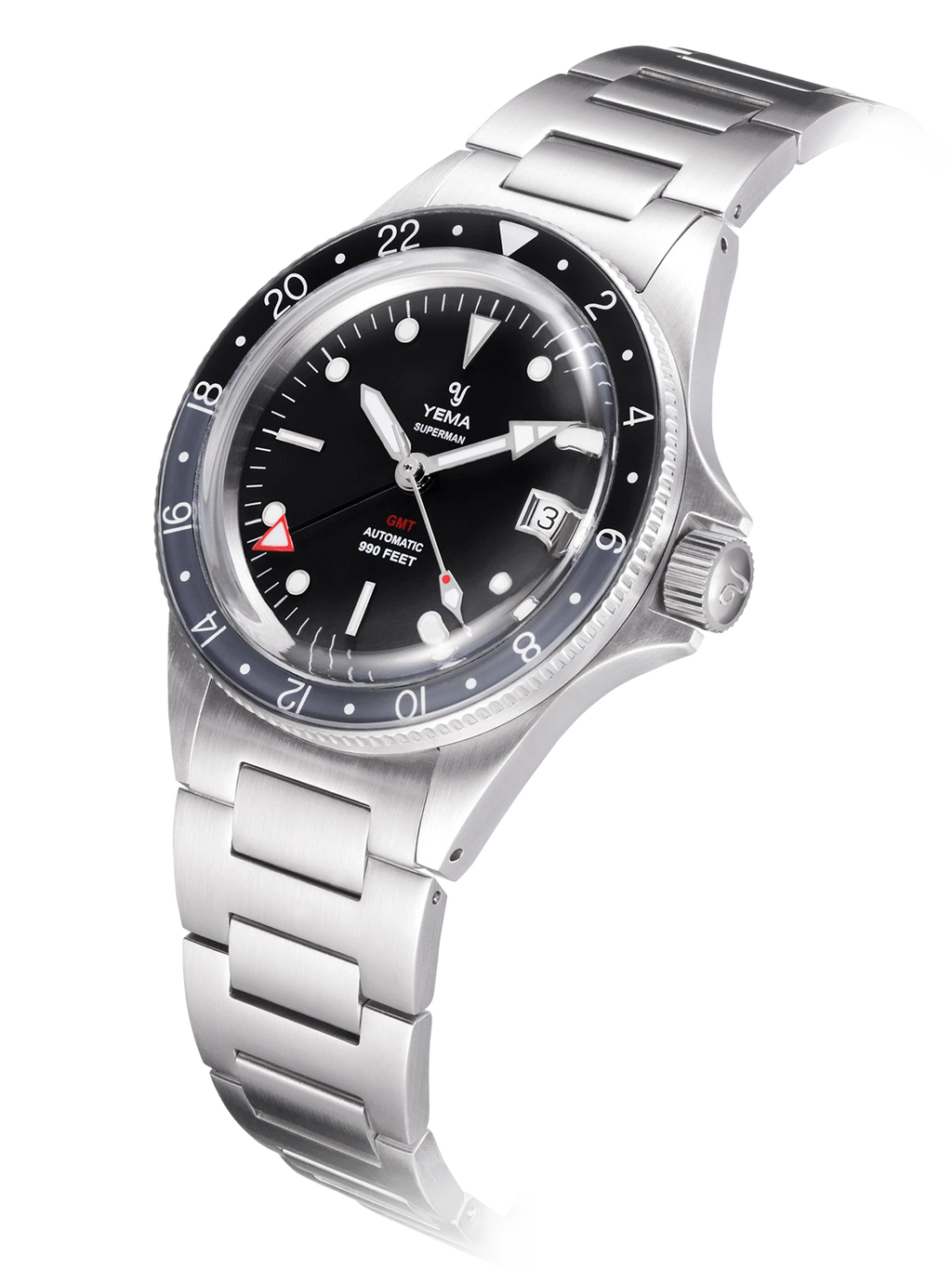 YEMA Superman GMT Black Gray - 41 mm