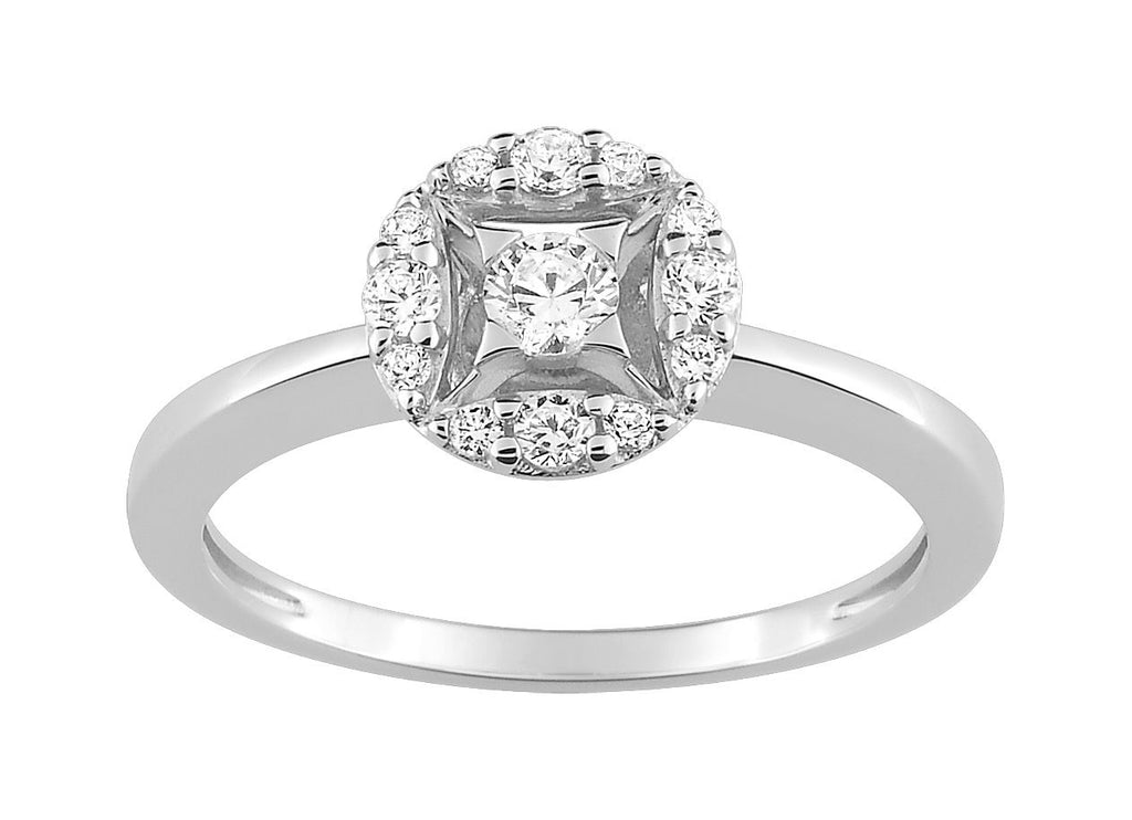 Bague Diamants 0.26ct GH-SI Or 750 Blanc